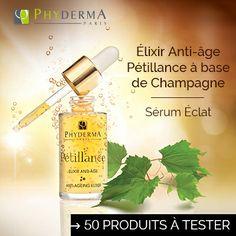 Testez l'Elixir anti-âge Pétillance de Phyderma