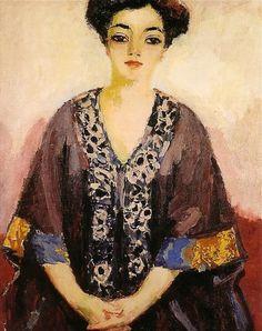 [ D ] Kees van Dongen - Portrait of woman Art Fauvisme, Never Grow Old, Figure Poses, Cute Designs, Art Photography, Mona Lisa, Funny Pictures, Kimono, Portrait