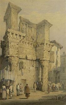 Forum of Nerva, Rome By Samuel Prout