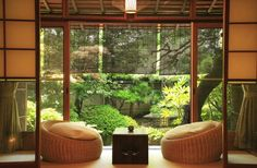 Comfortable Japanese Living Room with Two Chairs