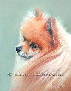 Pom Pom Art  Pomeranian Art  Pomeranian Art Print  by ArtByJulene