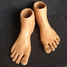 Step by step. Vintage pair of full size feet sculptures. One of a kind piece of art to display.