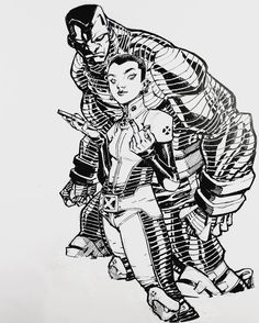 Colossus and Negasonic Teenage Warhead by Eric Canete