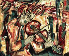 JACQUELINE DITT - Violin 1996 Gemälde Musik Bilder Bild Violine art painting art