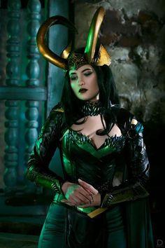 Lady Loki cosplay costume marvel inspired original desigm by Rarami Moana Cosplay, Disney Cosplay Costumes, Marvel Halloween Costumes, Cosplay Outfits, Girl Costumes, Lady Loki Cosplay, Loki Costume, Marvel Cosplay Girls, Cosplay Characters