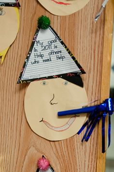 New Year's craft...have each kid make one and then put all the faces up for a bulletin board!