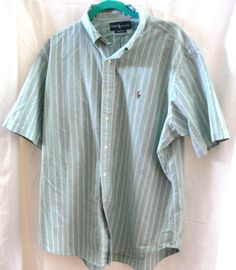 Mens Polo by Ralph Lauren Button Front Stripped Shirt Size XL Classic Fit #PoloRalphLauren #ButtonFront