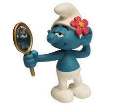 """Pitufo Vanidoso_Los Pitufos fueron creados en 1958 por el dibujante Pierre Culliford conocido como """"Peyo"""", tal fue el éxito de estas criaturas azules de pequeño tamaño que a principios de la década del 80 protagonizaron sus propias historietas, así como películas, series de dibujos animados y videojuegos…"""