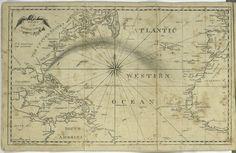 Atlantic Ocean map printable - frame for nursery