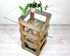 Vintage Industrial Crated Carboy Water Bottle / by havenvintage.