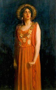 Lillah McCarthy as Jocasta (1913), Harold Speed