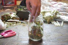 Mason Jar Terrarium | Easy mason jar craft just for you! A beautiful craft project you can make. #DiyReady www.diyready.com