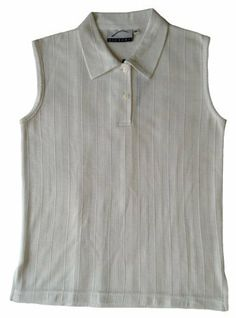 Damen Polo-Shirt Golfing, modisches sportiv ärmelloses Polo-Shirt aus luftigem Funktionsmaterial Coolmax in Jacquard-Strickmuster, Baumwoll/Coolmax, Farbe Ecru, Größe M Vexcon, http://www.amazon.de/dp/B00DTIQ57W/ref=cm_sw_r_pi_dp_ZRUstb1SYB8F9