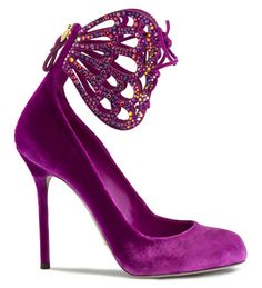 Sergio Rossi Fall 2011: Nothing less than fantastical burgundy and rhinestone shoes