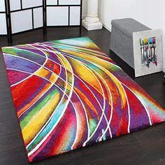 Amazon.de : flur teppich lang rutschfest Rugs In Living Room, Living Room Bedroom, Tapis Design, Design Moderne, Bedroom Carpet, Modern Rugs, Bunt, Designer, Contemporary
