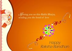 Happy Raksha Bandhan Images Free Download   FestCHACHA - Happy Raksha Bandhan Greeting Images – Missing you on this rakhi bhaiya, sending you the bond of love.