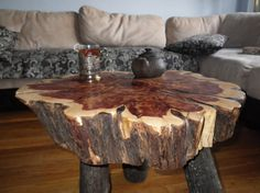 Large Cedar Slab Table by INGFURNITURE on Etsy