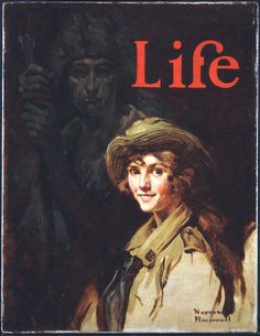 """""""Good Scouts (Portrait of a Girl Scout),"""" 1924, Norman Rockwell (1894-1978). Cover illustration for """"Life"""" magazine, November 6, 1924. Norman Rockwell Museum Digital Collections."""
