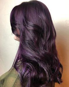 Plum Violet Hair Color 137664 10 Plum Hair Color Ideas for Women 2019 - Dark Purple Hair, Hair Color Purple, Brown Hair Colors, Dark Plum Brown Hair, Dark Hair With Color, Black Hair, Golden Brown, White Hair, Eggplant Colored Hair