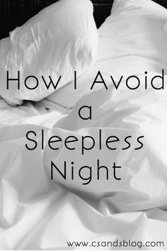 Oh how many of you suffer from insomnia or have troubles sleeping every now and then? I DO! It's part...