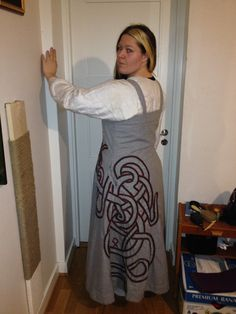 Mother of Dragons   Handsewn Viking dress with dragon embroidery. My own design.