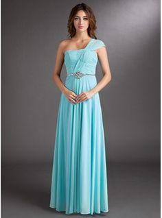 Prom Dresses - $144.99 - A-Line/Princess One-Shoulder Floor-Length Chiffon Evening Dress With Ruffle Beading  http://www.dressfirst.com/A-Line-Princess-One-Shoulder-Floor-Length-Chiffon-Evening-Dress-With-Ruffle-Beading-020016855-g16855
