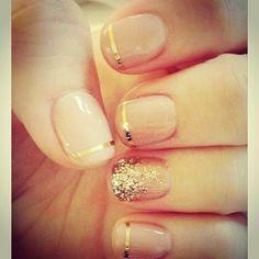 Classy holiday nails