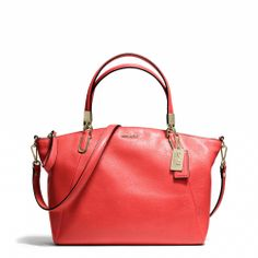 The Madison Small Kelsey Satchel in Leather from Coach