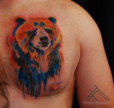 watercolor bear tattoo - Buscar con Google