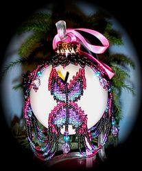 Butterfly Christmas Ornament Cover : Beading Patterns and kits by Dragon!, The art of beading.