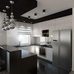 Kitchen Room Design, Kitchen Cabinet Design, Modern Kitchen Design, Interior Design Kitchen, Kitchen Cabinets, Modern Kitchen Renovation, Kitchen Remodel, Apartment Living, Cool Kitchens