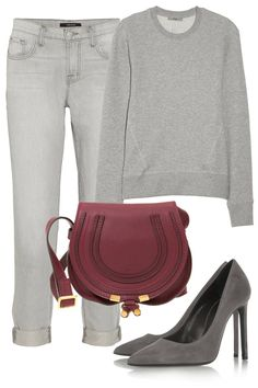 Street style how-to: Make a gray sweatshirt look chic. Formal Casual, Casual Chic, Casual Outfits, Cute Outfits, Fashion Outfits, Womens Fashion, Elle Fashion, Look Office, Look Chic