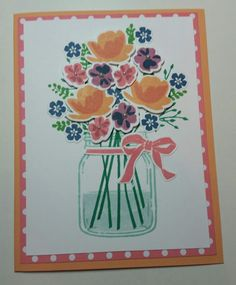 Brand new Stampin' Up In-colors and the Jar of Love stamp set! Love it!