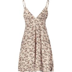Floral Print Empire Waist Cami Dress (52 BRL) ❤ liked on Polyvore featuring dresses, floral printed dress, floral print camisole, floral print dress, print dress and flower print dress