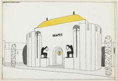 Project for a Modern City: museum /  Robert Mallet-Stevens (1886-1945) /   musée national d'Art moderne - Centre Georges Pompidou Robert Mallet Stevens, Portal Design, Georges Pompidou, Musée National, City Museum, Modern City, Art Moderne, Interior Architecture, Devil