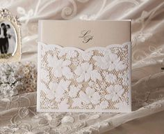 Graceful Champange Wedding Invitation cards (set of 50) US $89.99