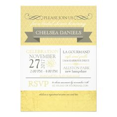 This DealsUnique Vintage Bridal Shower Gold yellow Personalized InvitesWe have the best promotion for you and if you are interested in the related item or need more information reviews from the x customer who are own of them before please follow the link to see fully reviews