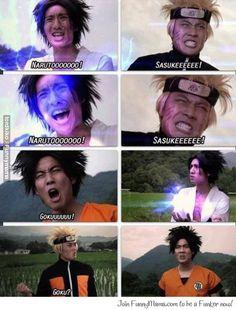 Naruto, Sasuke and... Goku?