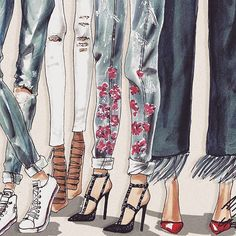Learn how to draw blue jeans on fsketcher.com ✏️⚡️