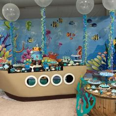 4 Year Old Boy Birthday, Third Birthday Girl, Birthday Themes For Boys, Boy Birthday Parties, Pool Party Kids, Ocean Party, Baby Party, Bubble Guppies Birthday, Under The Sea Party