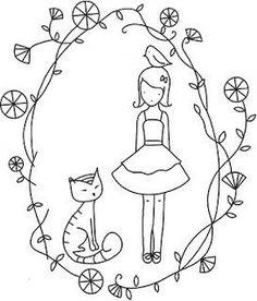 ARTE COM QUIANE - Paps,Moldes,E.V.A,Feltro,Costuras,Fofuchas 3D: 5 riscos de gatinhos para você usar no seu artesanato