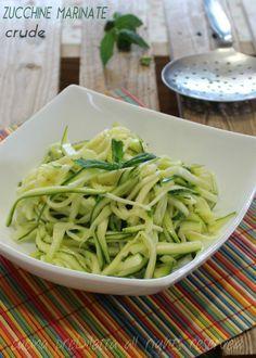 Zucchine marinate crude - ricetta | cucina preDiletta