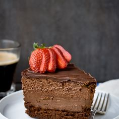 Quadruple Chocolate Mousse Cheesecake