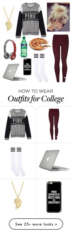"""""""Lazy days are a must"""" by emily-colquitt on Polyvore featuring Victoria's Secret, adidas, Sonal Bhaskaran, Speck, Beats by Dr. Dre and Casetify"""
