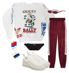 """""""Untitled #1025"""" by evalofra ❤ liked on Polyvore featuring Gucci, adidas Originals, NIKE, Kenzo, Prada, outfit and ootd"""