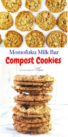 My new favorite cookie, MilkBar's Compost Cookie, has bits of chocolate and butterscotch chips, graham cracker crust, potato chips and pretzels. Truly ADDICTING! #compostcookies #cookierecipe #milkbar #sweetnsalty #yesplease #hummingbirdthymedotcom Potato Chip Cookies, Potato Chips, Cookie Recipes, Dessert Recipes, Desserts, Bar Recipes, Dessert Food, Baking Recipes, Crack Pie