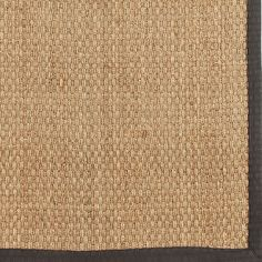 Seagrass Rug with gray border for kitchen