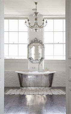 15 dreamy interiors pinned by Pinterest users - Home Decor - MSN Living Glam bathroom