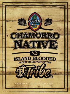 Chamorro Native Guam Seal Island Blood Tribe Poster