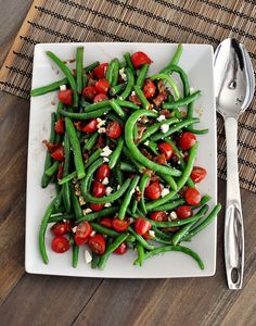 Mel's Kitchen Cafe | Fresh Green Bean Salad with Balsamic Dressing
